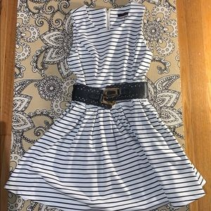 Brand new black and white stripped dress